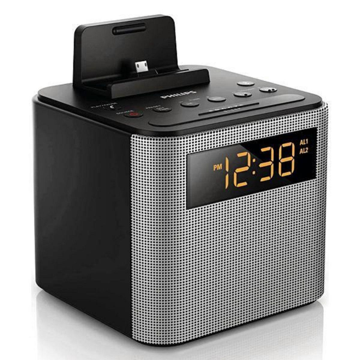 Relógio Despertador Philips AJT3300/37 com Bluetooth/USB Bivolt
