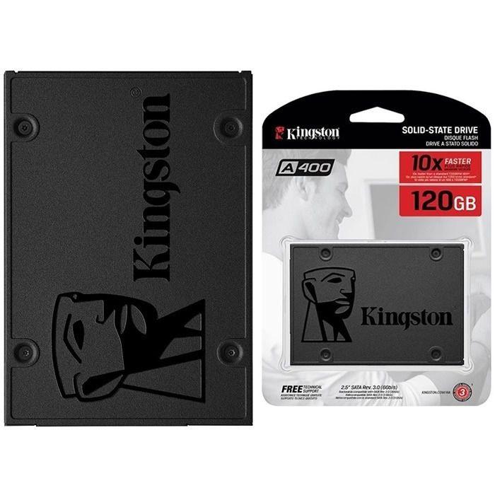 SSD 120GB Kingston A400 SA400S37/120G Leitura 500MB/s