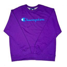 Blusa de Moletom Champion Gola Careca Script Logo Roxo