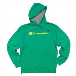 Blusa Moletom Canguru Champion Logo Script Verde Menta