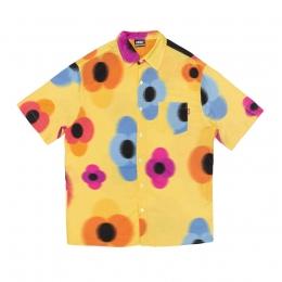 Camisa High Button Shirt Flowers Yellow