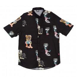 Camisa High Button Up Shirt Mitologi Black