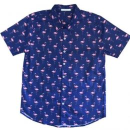 Camisa Kamizahia Flamingos Noite