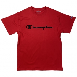 Camiseta Champion Embroidery Logo Script Vermelho