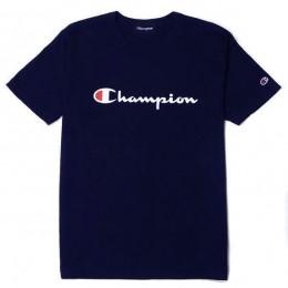 Camiseta Champion Logo Script Marinho