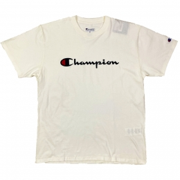 Camiseta Champion Logo Script Off White
