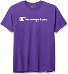 Camiseta Champion Logo Script Roxo