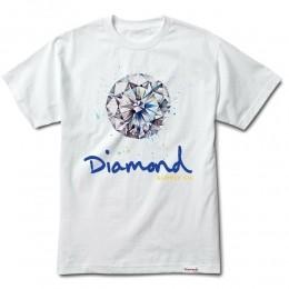 Camiseta Diamond Splash White
