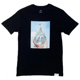 Camiseta Diamond x Willkhalifaman DMND CITY Preto