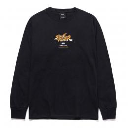 Camiseta HUF Longsleeve Ending Black