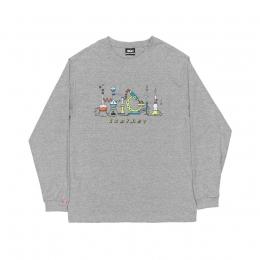 Camiseta Manga Longa High Longsleeve Lab Heater Grey