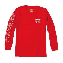 Camiseta Manga Longa Vans Griffin High Risk Red Vermelho