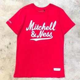 Camiseta Mitchell Ness Est Assinatura Vermelha