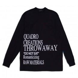 Camiseta Quadro Creations Longsleeve Throwaway Black