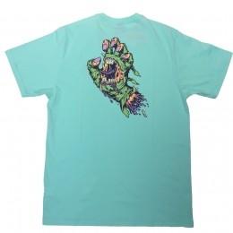 Camiseta Santa Cruz Mummy Hand Turquoise Blue
