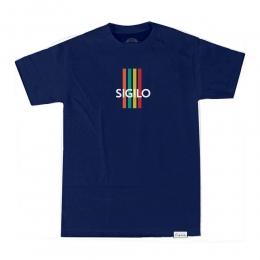 Camiseta Sigilo Color Stripes Azul Marinho