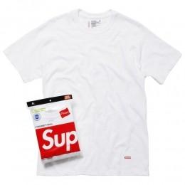 Camiseta Supreme Hanes Tagless Tee White (unidade)