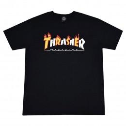 Camiseta Thrasher Flame Mag Black