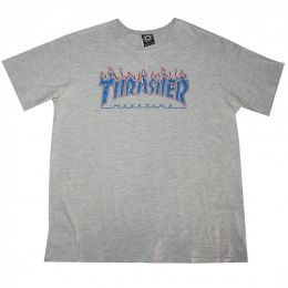 Camiseta Thrasher  Patriot Branco x Mescla