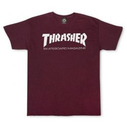 Camiseta Thrasher Skate Mag Bordo
