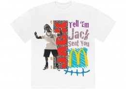 Camiseta Travis Scott x McDonald's Jack Smile White