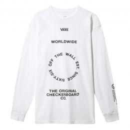 Camiseta Vans Wordwilde Longsleeve White