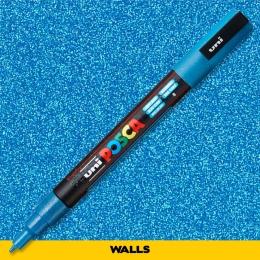 Caneta Posca 3M Azul Glitter