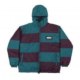 Jaqueta HIGH Block Puffer Jacket Purple/Green