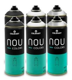KIT com 6 Tinta Spray NOU