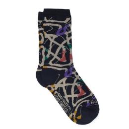 Meia Bolovo Minhocas Preta - Wormhole Socks