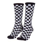 Meia Vans Checkerboard Crew Branca/Preta