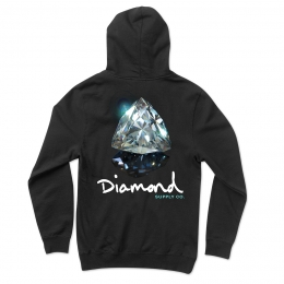 Moletom Diamond Gem Hoodie Black