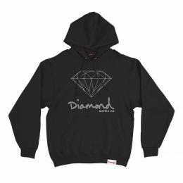 Moletom Diamond OG Sign Hoodie Black
