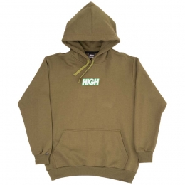 Moletom High Hoodie Logo Colored Olive Green
