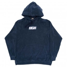 Moletom High Terry Hoodie Logo Navy
