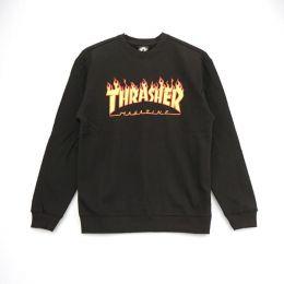 Moletom Thrasher Crewneck Flame Logo Preto