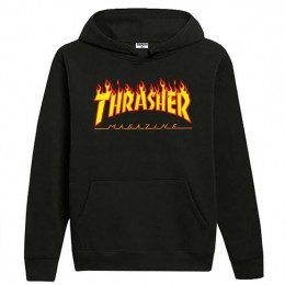 Moletom Thrasher Flame Logo Preto