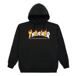 Moletom Thrasher Flame Mag Preto