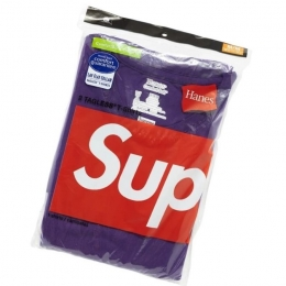 Pack de 2 Camisetas Supreme Hanes Tagless Tee Purple