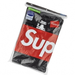 Pack de 3 Camisetas Supreme Hanes Tagless Tee Black