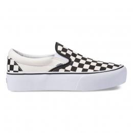 Tênis Vans Classic Slip On Platform Black White Checkerboard VN00018EBWW