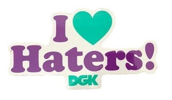 Adesivo DGK I Love Haters