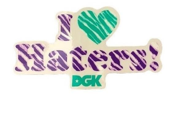 Adesivo DGK I Love Haters Zebra