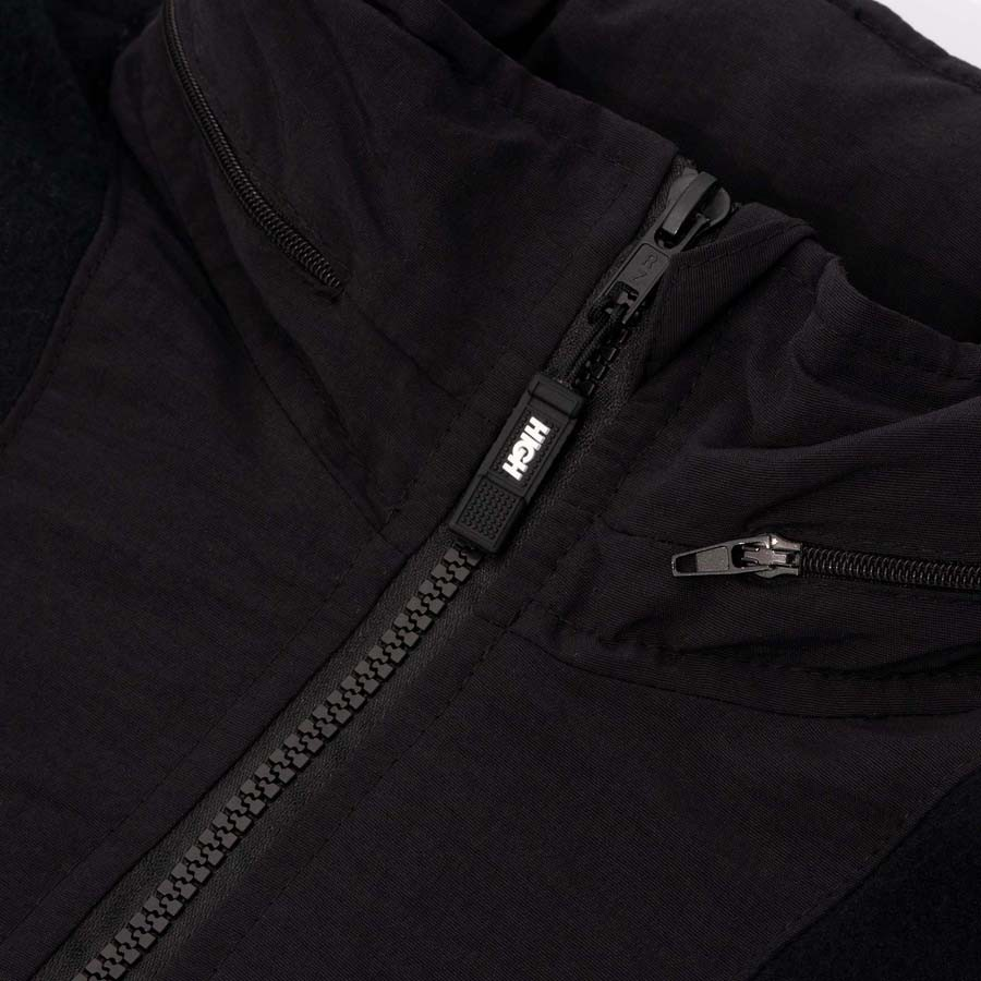 Blusa High Quarter Zip Fleece Black