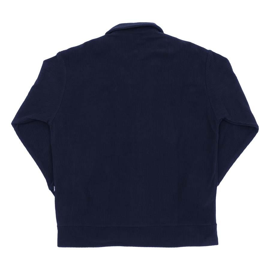 Blusa High Ribbed Fleece Outline Logo Navy