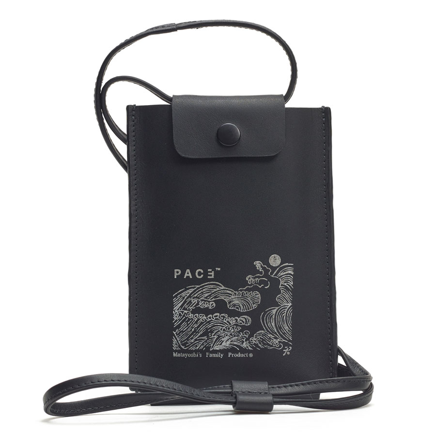 Bolsa Pace Pouch Leather Bag Black
