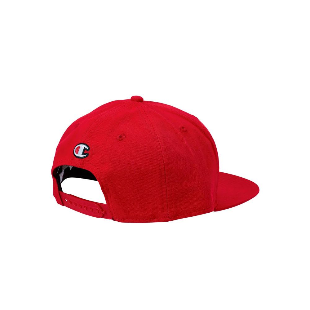Boné Champion Snapback Script Logo Baseball Hat Vermelho