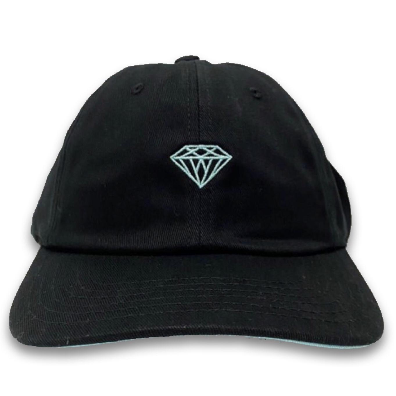 Boné Dad Hat Diamond x Willkhalifaman Desestruturado Aba Curva Preto