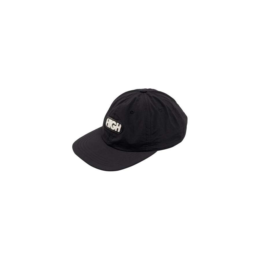 Boné High 6 Panel Logo Black