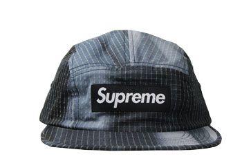 Boné Supreme Camp Cap Tie Dye Rip Stop Black